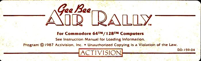 c64 disk label - air rally
